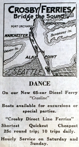 1925 Crosby Ferries map ad